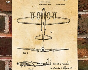 KillerBeeMoto: Duplicate of Original U.S. Patent Drawing For Vintage Heavy American Bomber