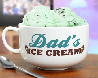 Personalized Ice Cream Bowl, Ice Cream Bowl, Ceramic Bowl