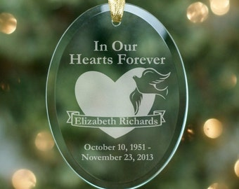 Memorial Christmas Tree Ornament, Personalized Ornament, In Memory