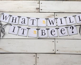 What Will It Bee O Gender Reveal Banner Bumble Baby