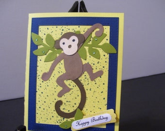 Happy Birthday Card with a Funny Monkey