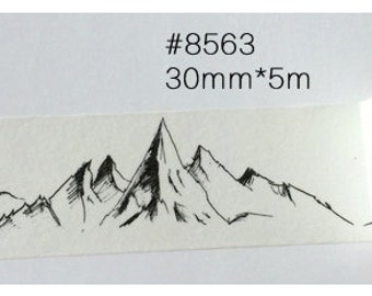 Mountain Washi Tape -- Japanese Washi Tape -Deco tape-- 30mm x5M