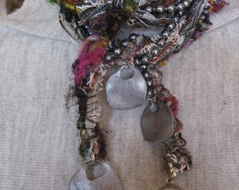 Mixed Media Lariat Necklace