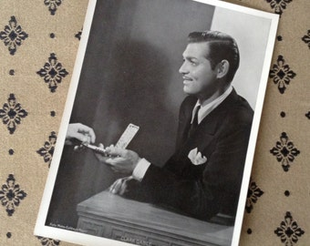 "1930s Clark Gable original photo 5""x7"" MGM publicity photo, classic movie, hollywood star, authentic Black & White vintage photograph"