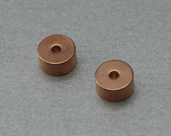 Rondell Brass Spacer . Rose Gold Plated . 10 Pieces / C4033R-010