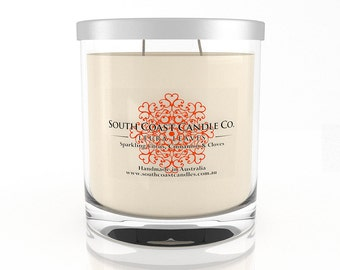 Citrus Cinnamon Clove Scented Soy Wax 100 Hour Candle Jar + Lid