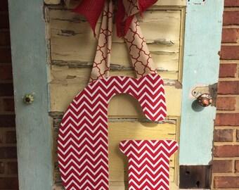 Wooden Initial Door Hanger