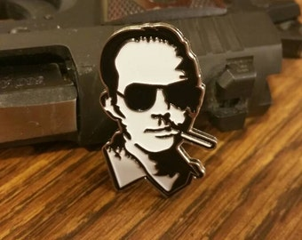 Hunter s thompson, Dr gonzo, soft enamel lapel pin