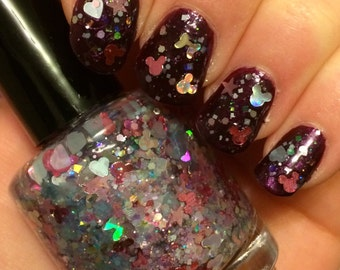 Pretty Princess ~ PREORDER (may take up to 14 business days to ship) ~ 15 mL Full size bottle ~ Indie Nail Polish Glitter Lacquer