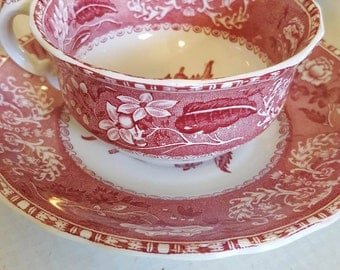 Spode Pink Camilla Tea Cup and Saucer