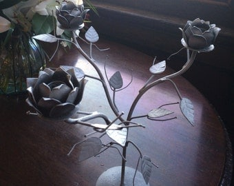 Up-cycled Vintage Metal Candle Holder