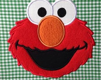 Elmo Face Applique Embroidery File 5x7in 13x18cm, Sesame Street Embroidery, Elmo Embroidery, Elmo Appliqué Design File 5 x 7 in, 13 x 18 cm