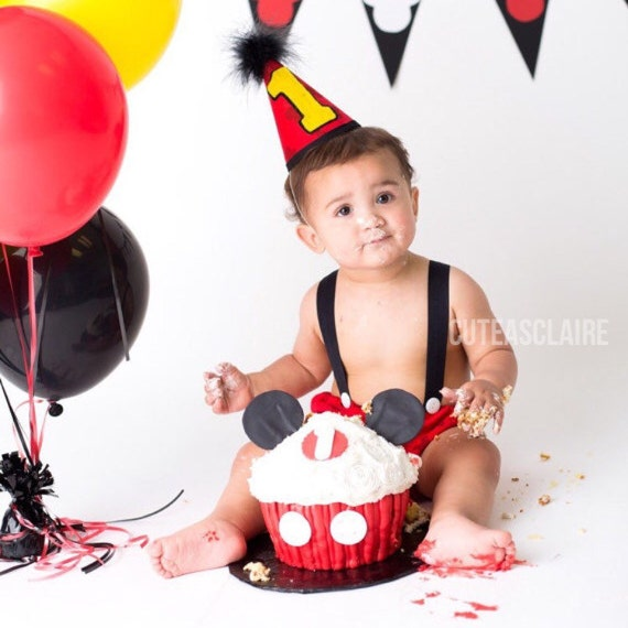 Boy Disney Mickey Mouse Cake Smash Birthday Outfit by ...