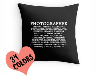 Photographer Pillow, Photographer Toss Pillow, Photography Pillow, Photography Pillow, Photographer, Photog Shirt, Photographer Gift