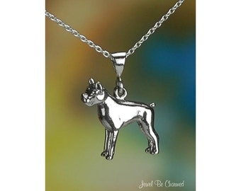 """Sterling Silver Boxer Necklace with 16-24"""" Cable Chain or Pendant Only"""