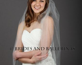Fingertip Wedding Veil, Bridal Veils White, Sheer Veil, Simple Veil, Bridal Veil Fingertip, Soft Tulle Veil, Wedding Veil Bliss