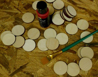 how to cut small wooden discs