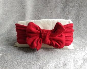 Red Bow Headband, Baby Girl, Headbands, Bow Headband