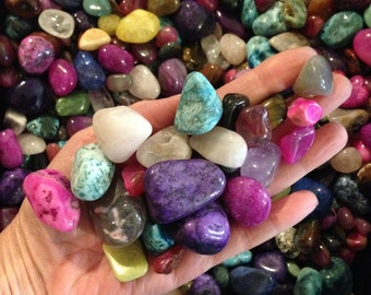 1 lb Large Mixed Tumbled Stones, Assorted mix bag ,Reiki Stones,Medicine Bag,Crystal Mineral Gemstones,Polished Stones,Chakra,40% off Retail