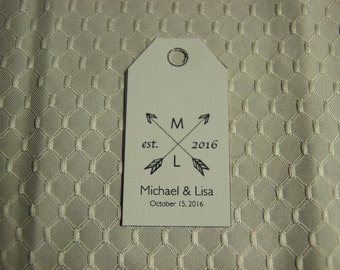 Wedding Favor Tags - Arrow Design