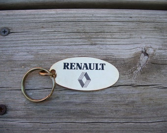 vintage Renault brass keychain | key chain | brass key fob | brass key ring | brass key chain | brass key ring | brass key holder