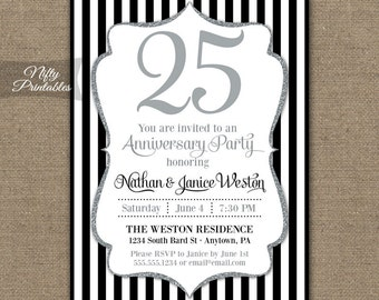 40th Anniversary Invitations Printable Wedding