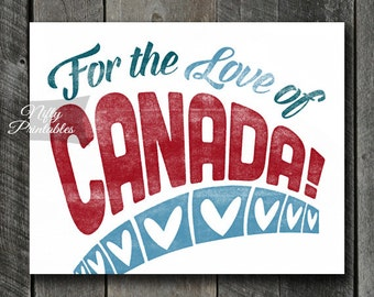 Canada Print - INSTANT DOWNLOAD Canada Art - Vintage Canada Poster - Canadian Wall Art - Canada Gifts - Retro Colorful Canada Decor