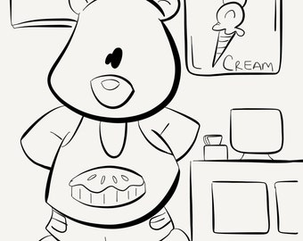 Ice Cream Shop Bear
