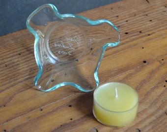 Clear Handcrafted Tea Light Candle Holder
