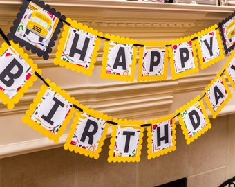 School Bus Banner, School Bus Party, School Bus Party Decor, Yellow Bus Birthday, Back to School party, School bus birthday
