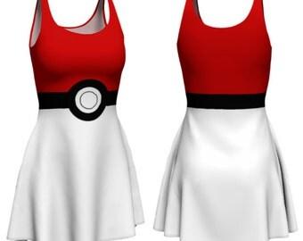 Catchem Dress (pokeball, pokemon go inspired)