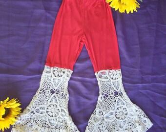 Boho gypsy lace harem pants