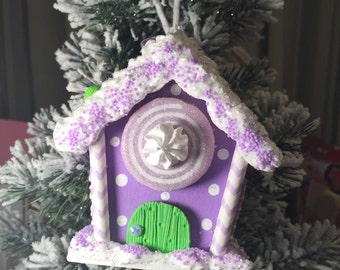 Purple candy land ornament.