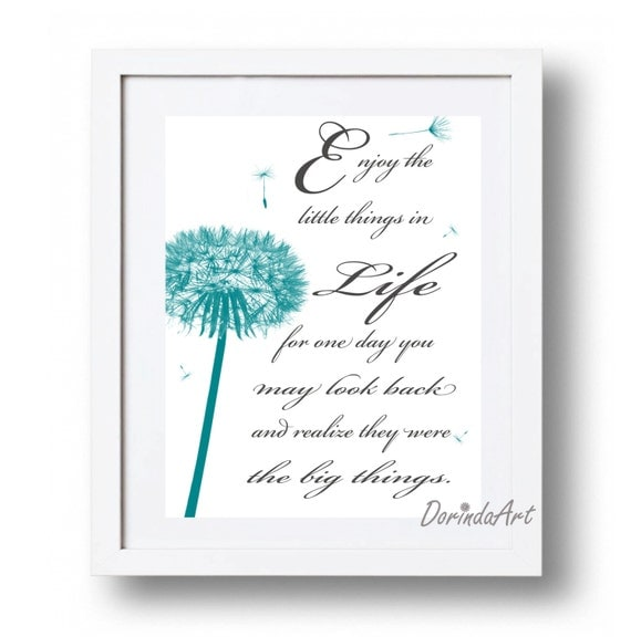Items Similar To The Little Prince Quote Inspirational: Items Similar To Printable Quote Teal Dandelion Quote Life