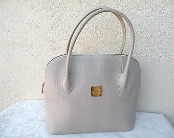 Spring/Summer  Sale Clearance Handbag Sale / Vintage MCM handbag / Made in Italy  / Aunthentic Leather Satchel