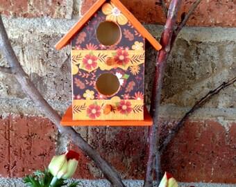 Autumn Envy Mini Birdhouse, Patio Decor, Birdhouse, Decorative Accent