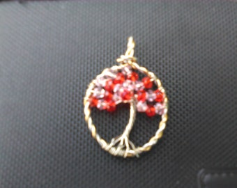 Crystal Tree of Life Pendant On Sale