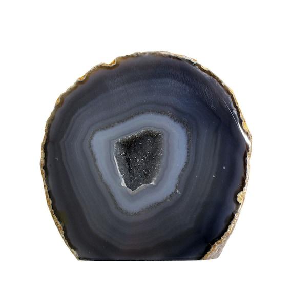 agate geode agate cut base druzy rock formation home decor. Black Bedroom Furniture Sets. Home Design Ideas