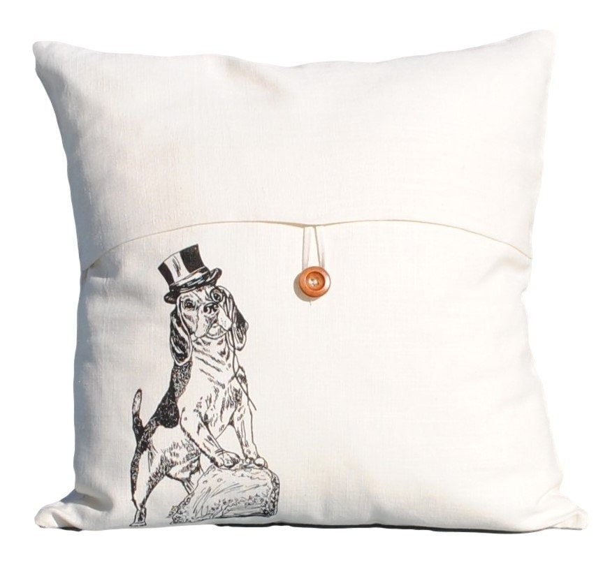 Dog Throw Pillow Cover 18 x 18 Pillow Case