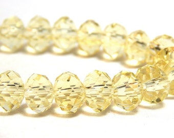 Yellow Crystal Beads, Crystals, Tiaria Crystal Beads, Yellow Beads, Lemon Yellow Beads, Crystal Beads, Pale Yellow Crystals, D-C20