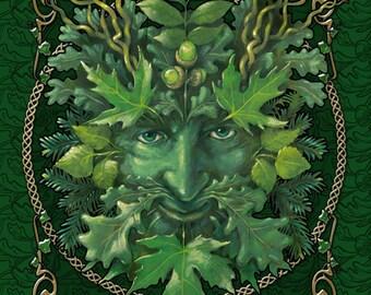 """The Green Man 8""""x10"""" Fine Art PRINT, Herb Leonhard art print"""