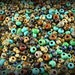 Anissa Exclusive Picasso Mix Czech Glass Seed Beads Rustic Multicolor Rough Aged Tribal 20g