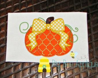 Pumpkin Applique Design Embroidery