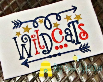 Wildcats Football embroidery design