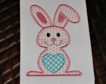 Easter Bunny Applique Design Embroidery