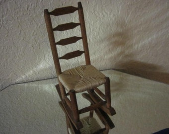 Dolls Rocking Chair with Weaved Sitting.