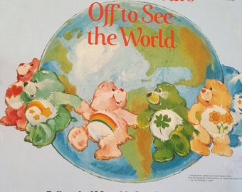 The Care Bears Off to See the World LP - vintage vinyl - care bears -care bears album - care bears lp -vintage care bears - collectable lp