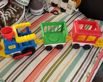 Fisher Price toy train - Fisher Price train - vintage Fisher Price - Fisher Price vintage - toy train vintage - Fisher Price toy