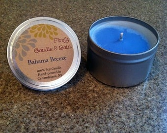 Bahama Breeze - 6 oz. Scented Soy Candle Tin