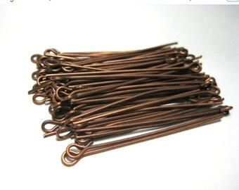 50% OFF Clearance Sale 100pcs Antique Copper Eye pins 40mm 21ga (No.594)